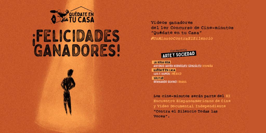 Banner Ganadores 1er concurso Cineminutos