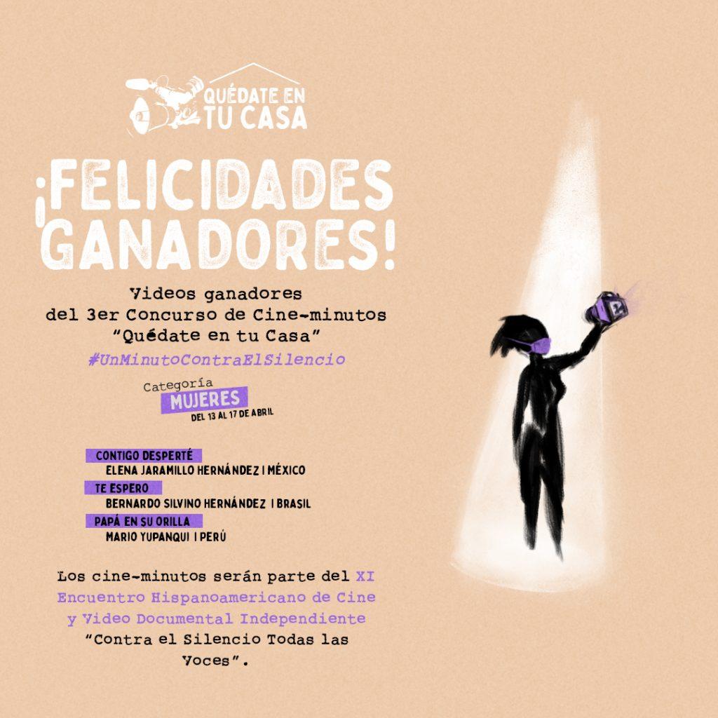 Ganadores del 3er Concurso de Cineminutos Mujeres