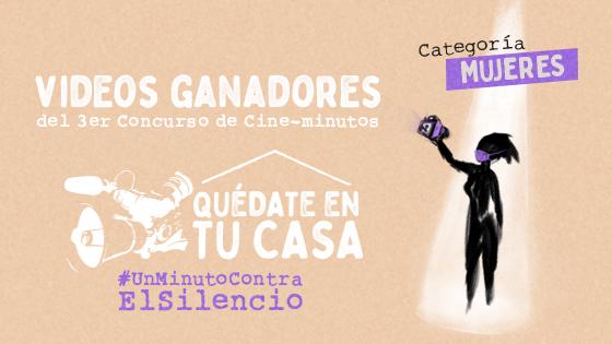Banner Videos Ganadores 3er Concurso Cineminutos Mujeres