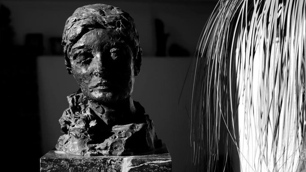 Busto de escultura
