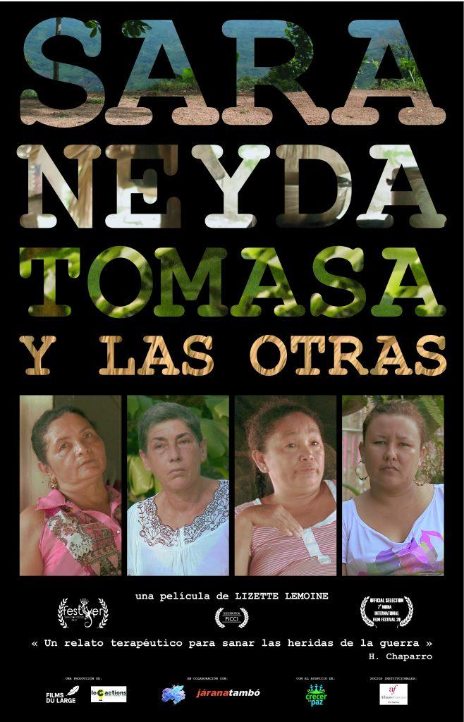 """Cartel """"Sara, Neyda, tomasa y las otras"""""""