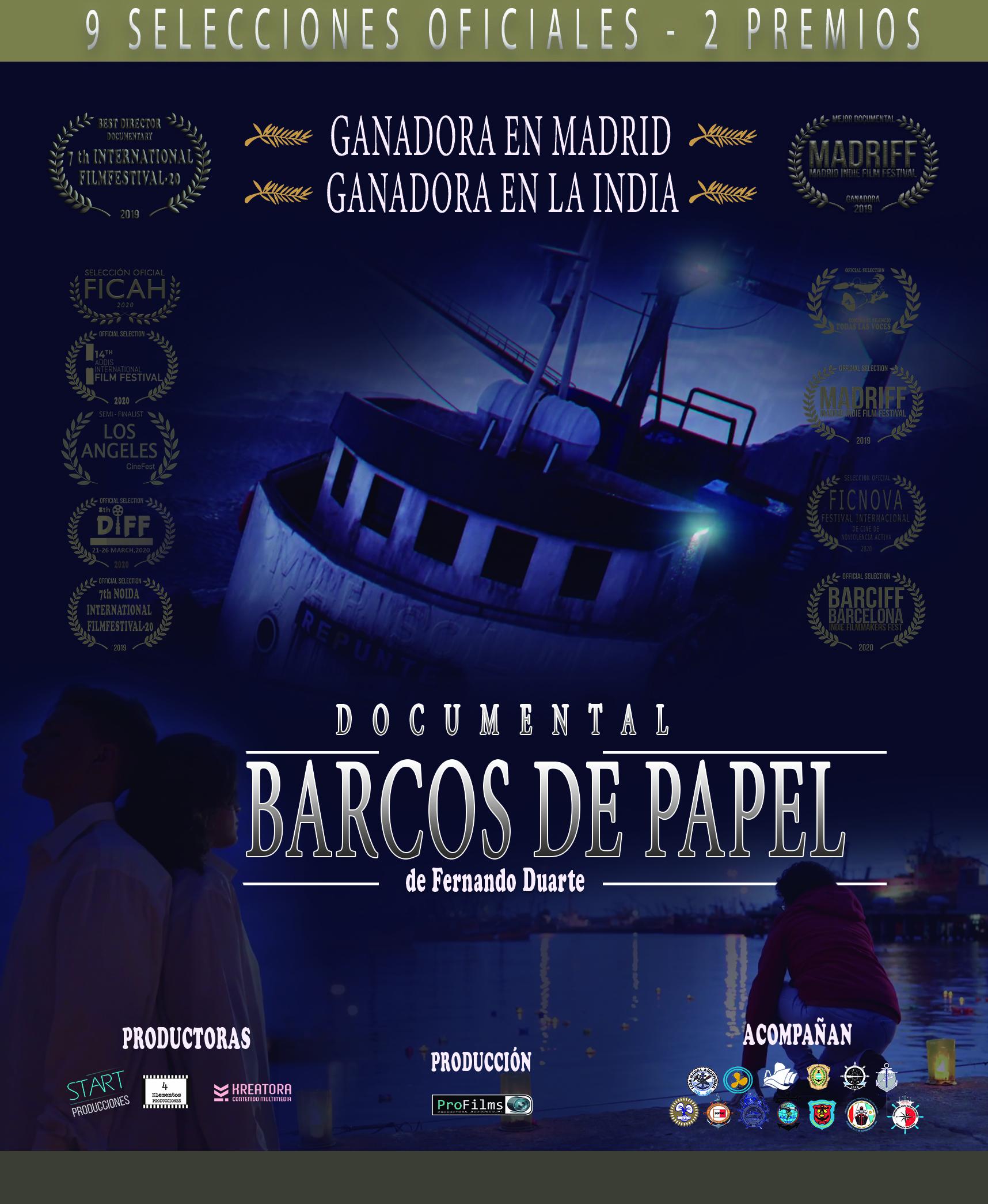 Cartel Barcos de Papel